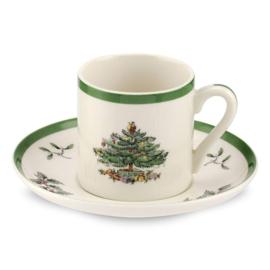 Espressokop & Schotel (0,1 l.) - Spode Christmas Tree