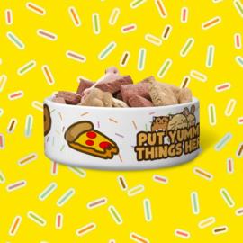 Dieren Voer-/Drinkbak 'Put Yummy Things Here' - Fuzzballs