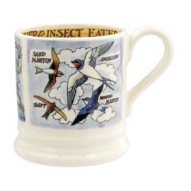 1/2 Pt Mug Kingfisher & Insect Eaters - Emma Bridgewater