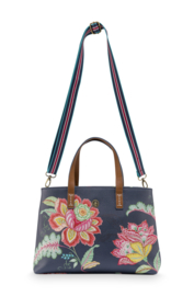 Shopper Small Jambo Flower Blue (39 cm.) - Pip Studio