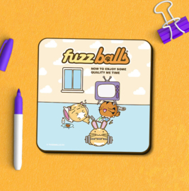 Onderzetter 'Fuzzballs Relaxation' - Fuzzballs