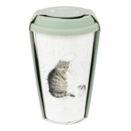 Travel Mug Cat (0,31 l.) - Wrendale Designs