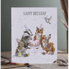 Verjaardagskaart 'Woodland Party' - Wrendale Designs