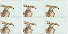 6 Placemats (30,5 cm.) - Pimpernel Wrendale Hare