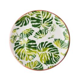 Aardewerk Ontbijtbord Tropic Leaf (21 cm.) - Rice