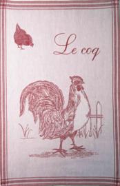 Theedoek Le Coq Rouge (75 cm.) - Coucke