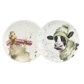 2 Borden Duck & Cow Collection (16,5 cm.) - Wrendale Designs