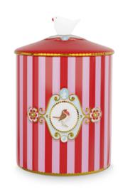 Voorraadpot Medallion Red Pink (1,3 l.) - Pip Studio Love Birds