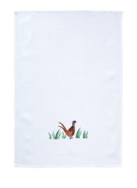 Theedoek Wafelkatoen Pheasant - Ulster Weavers