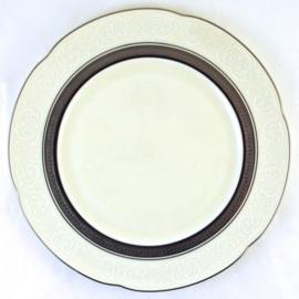 Ontbijtbord (23,8 cm.) - Noritake Ardmore Platinum