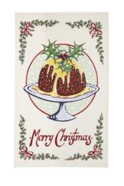 Katoenen Theedoek Christmas Pudding - Ulster Weavers