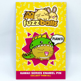 Pin 'Rawr' Dinocat - Fuzzballs