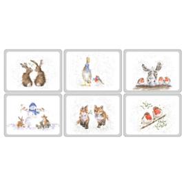 6 Placemats (30,5 cm.) - Pimpernel Wrendale Xmas