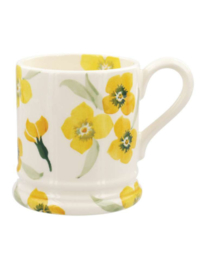 1/2 Pt Mug Wallflower Yellow - Emma Bridgewater