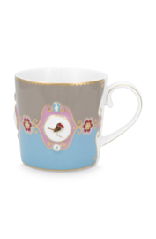Mok Medallion Blue Khaki (150 ml.) - Pip Studio Love Birds