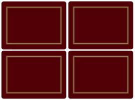 4 Placemats (40,1 cm.) - Pimpernel Classic Burgundy
