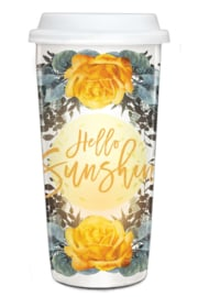 Travel Mug Hello Sunshine - Papaya Art