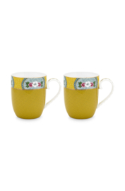 Set 2 Mokken Blushing Birds Yellow (145 ml.) - Pip Studio