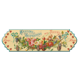 Handdoekrekje Savon Superfins aux Fleurs - Cartexpo
