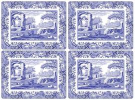 4 Placemats (40,1 cm.) - Pimpernel Blue Italian