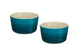 Set 2 Ramekins Deep Teal (200 ml.) - Le Creuset