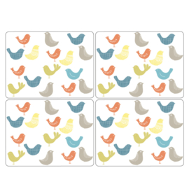 4 Placemats Scandic Birds (30,5 cm.) - Pimpernel Catherine Lansfield