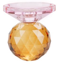 Kristallen Kandelaar Rose / Amber - Miss Étoile