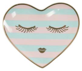 Hartvormig Bordje Candy Eyes (11,5 cm.) - Miss Étoile