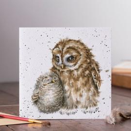 Wenskaart 'Owl-ways By Your Side' - Wrendale Designs
