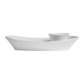 Chip & Dip Schaal Marga White (43 cm.) - Côté Table