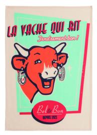 Theedoek La Vache Qui Rit Retro Vanille (75 cm.) - Coucke