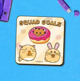 Onderzetter 'Squad Goals' - Fuzzballs