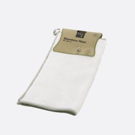 Bamboevezel Schoonmaakdoek Wit (25 cm.) - Point-Vergule