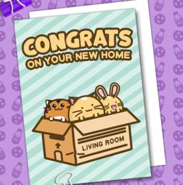 Kaart 'Congrats on Your New Home' - Fuzzballs
