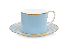 Espressokop & Schotel Blue (125 ml.) - Pip Studio Love Birds