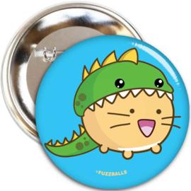 Broche 'DinoCat' - Fuzzballs