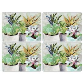 4 Placemats (40,1 cm.) - Pimpernel Succulents