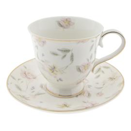 Kop & Schotel Tableware Flowers (0,22 l.) - Clayre & Eef