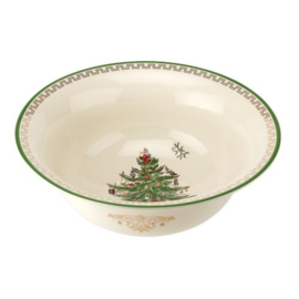 Grote Schaal (32,5 cm.) - Spode Christmas Tree Gold