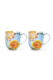 Cadeauset 2 Mokken Royal Flowers (325 ml) - Pip Studio