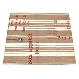 Tafelkleed Menu & Spoon Taupe / Rood - Campagne
