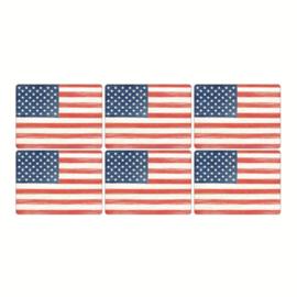 6 Placemats (30,5 cm.) - Pimpernel American Flag