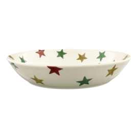 Pastabord / Serveerschaal (24 cm.) - Emma Bridgewater Red Green & Gold Star