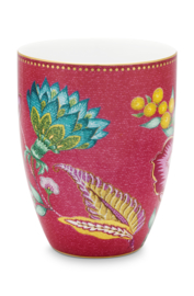Beker Jambo Flower Pink (300 ml.) - Pip Studio
