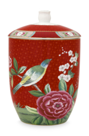 Voorraadpot Blushing Birds Red (1,5 l.) - Pip Studio
