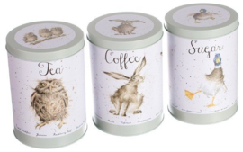 Set Koffie-, Thee- & Suikerblikken Green - Wrendale Designs