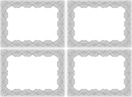 4 Placemats Glamour Lace (30,5 cm.) - Portmeirion Catherine Lansfield