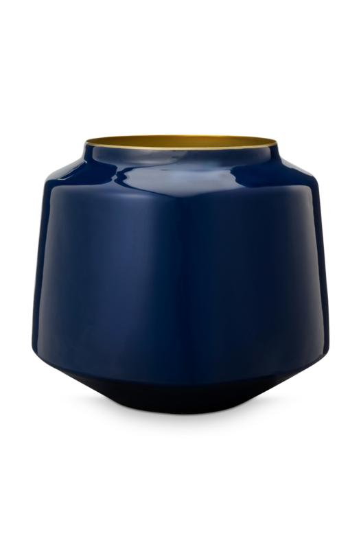 Metalen Vaas Blauw (22 cm.) - Pip Studio Royal