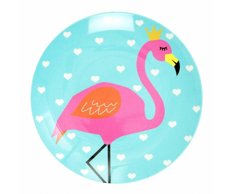 Bord Melamine So Pretty Flamingo (20,5 cm.) - Ginger