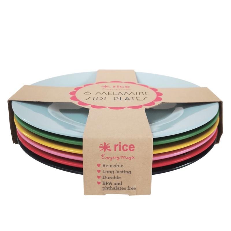 Set 6 Melamine Ontbijtborden (20,5 cm.) - Rice